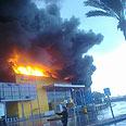 Fire at IKEA, Saturday Photo: Raanan Ben-Zur