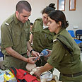 Sgt. Gilad Nesher in class simulation Archive photo: IDF Spokesperson's Unit