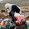 Palestinian at Hirbet Tana Photo: Reuters