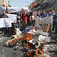 'Entire city center crushed.' Market vendors protest Photo: Gil Yohanan
