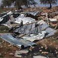 'We won't stop.' Razed structures Photo courtesy of Binyamin Citizens Committee