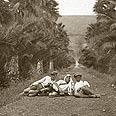 A. Photo's caption reads, 'Near Bitaniya in the valley'