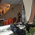 Damage caused to house Photo: Herzl Yosef