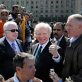 'Greater security.' Lieberman (L) and McCain in Cairo Photo: AP