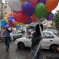 Balloons brought to festoon school Photo: Yaron Brener