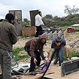 Havat Gilad after Monday's razing Photo: Gur Dotan