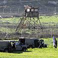 Forces near Itamar Saturday Photo: Ido Erez