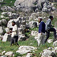 Settlers near Yitzhar Photo courtesy of Yesh Din