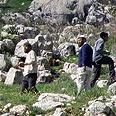 Settlers near Yitzhar Photo courtesy of Yesh Din