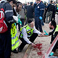 Scene of attack in Jerusalem Photo: AP