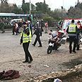 Scene of explosion Photo: Gil Yohanan