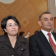 MKs Zoabi and Zahalka Photo: Gil Yohanan