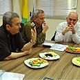 Gantz, Barak consult after attacks Photo: Ariel Hermoni, Defense Ministry