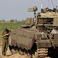 IDF tank near aza Strip Photo: Reuters