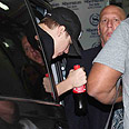 Let me out. Bieber arrives at Tel Aviv hotel Photo: Anat Mosberg