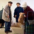 Food distribution for Holocaust survivors Photo: Noam Moskowitz