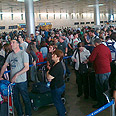 Thousands stranded at airport Photo: Yoav Glasner