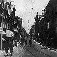 Holocaust distrotion. Jewish street in Amsterdam Photo: Getty Images Bank