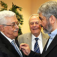 Abbas and Mashaal. Tensions Photo: Reuters