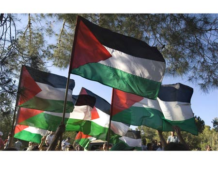 The attackers in New York had Palestinian flags on their vehicles. (Photo: AFP)