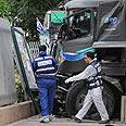 Scene of the attack Photo: Yaron Brener