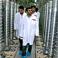Iranian president tours nuclear facility Photo: AP