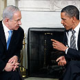 Netanyahu band Obama Photo: Reuters