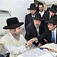 At Rabbi Steinma's home Photo: Shuki Lerer