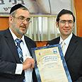 Lakewood Mayor Miller (R) and Bnei Brak Mayor Asher Photo: Shuki Lerer
