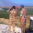 UN soldiers in Quneitra Photo: Hanan Greenberg