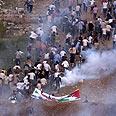 Protestors at Syrian border on 'Naksa Day' Photo: AFP