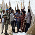 Syrian refugee camp on Turkish border Photo: Reuters