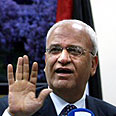 Erekat. 'Netanyahu provoking world' Photo: AFP