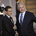 Netanyahu with Sarkozy, Wednesday Photo: Reuters