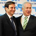Meridor (L) and Netanyahu Photo: Yaron Brener
