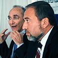 Lieberman and Landau on top Photo: Dana Kopel