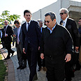 Barak with Miliband during tour Photo: Ariel Hermoni, Defense Ministry
