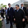 Barak with Miliband during tour Photo: Ariel Hermoni, Defense Ministry