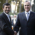 Ahmadinejad (L) and Suleiman in Tehran Photo: AP