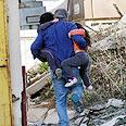 Residents flee rockets in Netivot Photo: Roy Idan