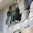 Home damaged by Qassam Photo: Roee Idan