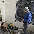 Apartment damaged by Qassam Photo: AFP