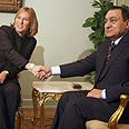 Tactical decision? Livni with Mubarak Photo: Reuters