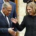 Aboul-Gheit with counterpart Livni Photo: AFP