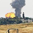 Airstrike on Hamas targets in Gaza Photo: AP