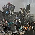Building destroyed in Gaza strike Photo: AP
