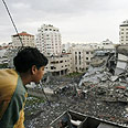 Gaza after IAF attack Photo: AFP