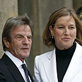 Kouchner and Livni Photo: Reuters