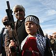 Rally against Gaza op in Sakhnin Photo: Hagai Aharon