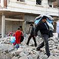 Gazans fleeing homes Photo: AP